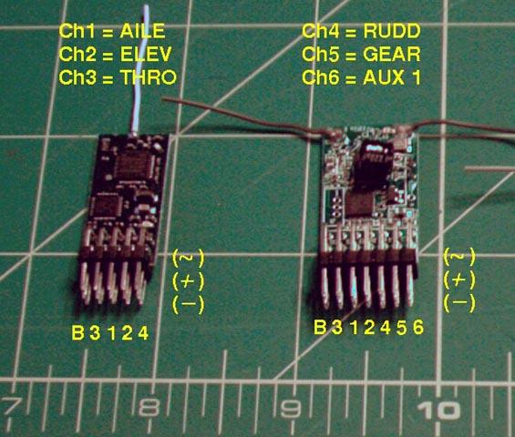 Spektrum DSM2 Compatible 2.4GHz Receivers
